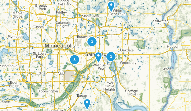 Saint Paul, Minnesota Walking Map