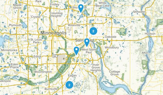 St Paul, Minnesota Birding Map