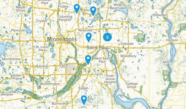 St Paul, Minnesota Lake Map