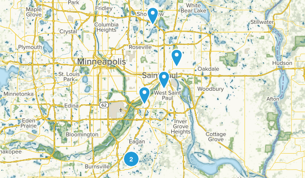 St Paul, Minnesota Views Map