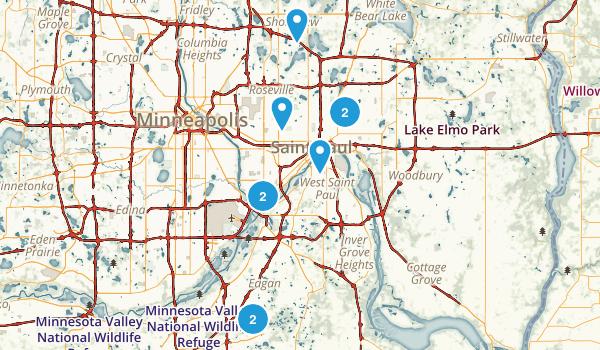 St Paul, Minnesota Walking Map