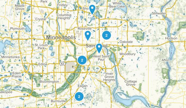St Paul, Minnesota Wild Flowers Map