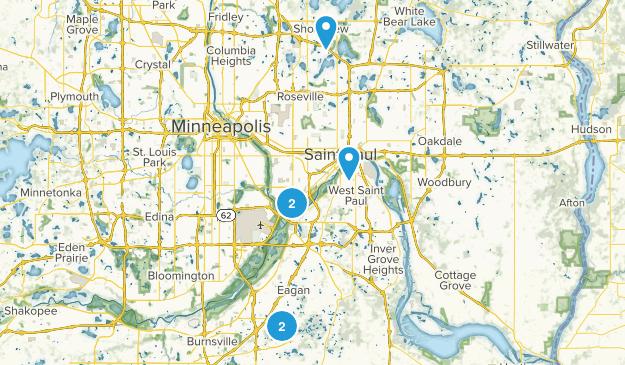 St Paul, Minnesota Wildlife Map
