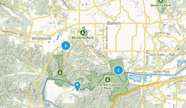 Ballwin, Missouri Trail Running Map