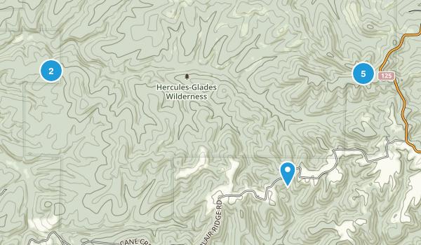 Bradleyville, Missouri Nature Trips Map