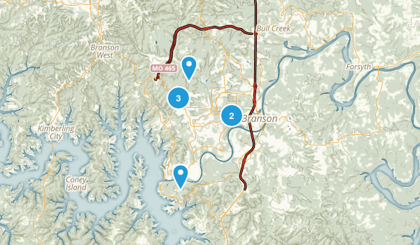 Branson, Missouri Hiking Map