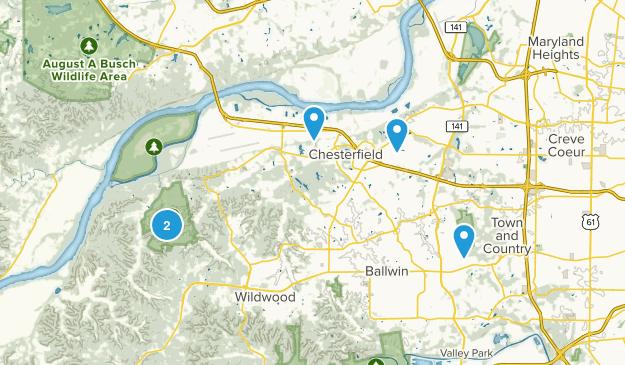 Chesterfield, Missouri Kid Friendly Map