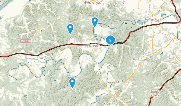 Eureka, Missouri Dogs On Leash Map