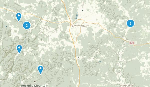 Fredericktown, Missouri Forest Map