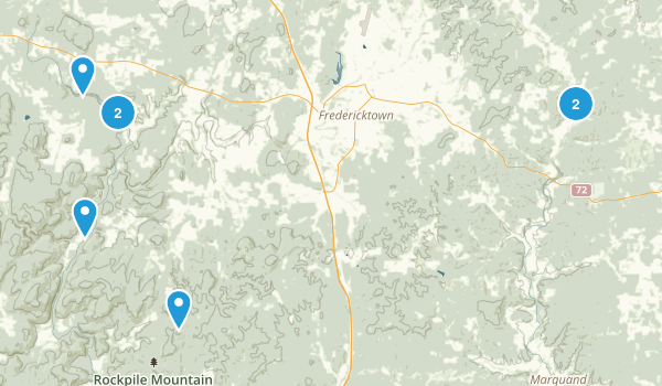 Fredericktown, Missouri Hiking Map