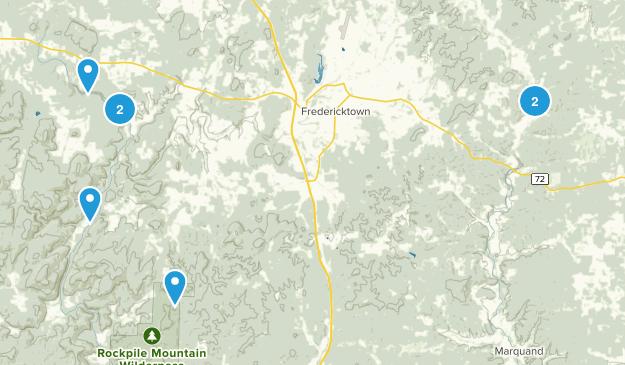 Fredericktown, Missouri Hiking Map