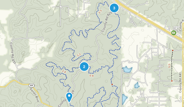 Green Forest, Missouri Dogs On Leash Map