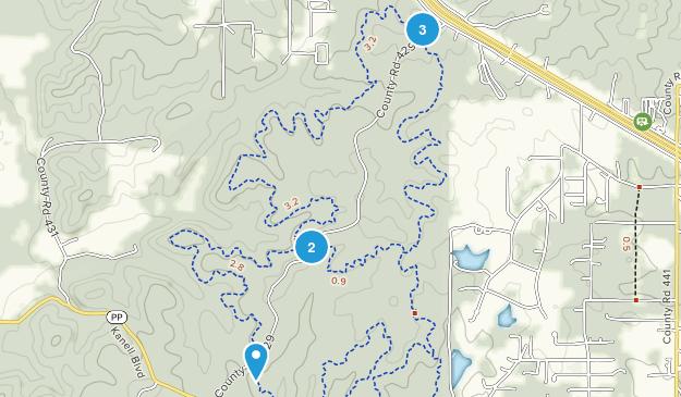 Green Forest, Missouri Mountain Biking Map