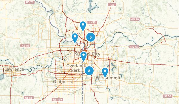 Kansas City, Missouri Hiking Map