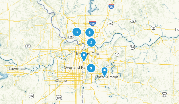 Kansas City, Missouri Hiking Map