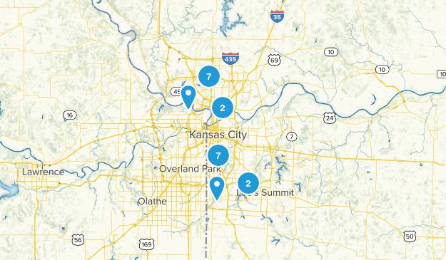 Kansas City, Missouri Trail Running Map