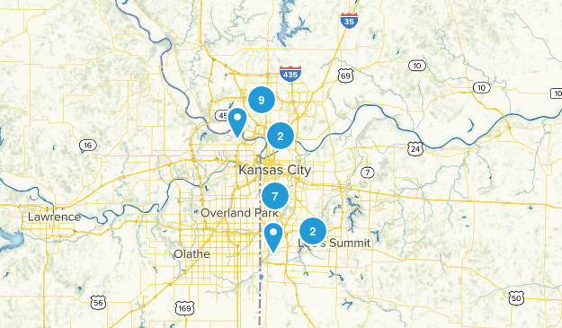 Kansas City, Missouri Walking Map