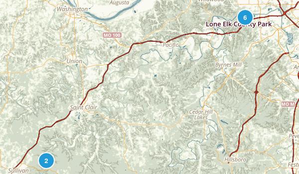 Meramec, Missouri Hiking Map
