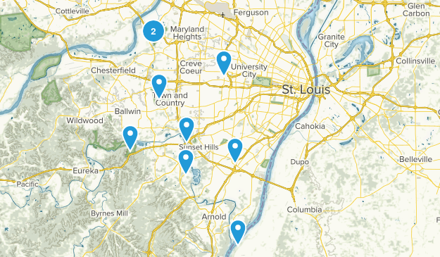 Saint Louis, Missouri Nature Trips Map