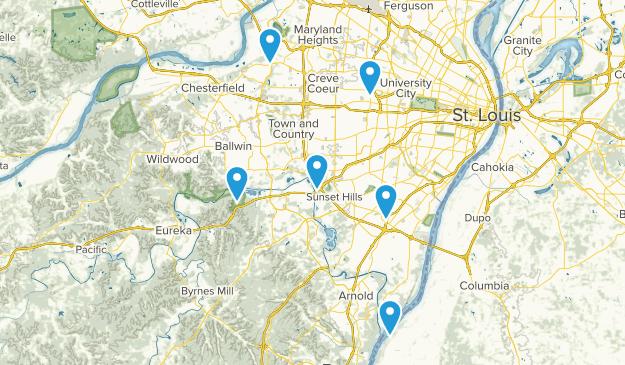 Saint Louis, Missouri Walking Map
