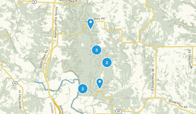 Troy, Missouri Hiking Map