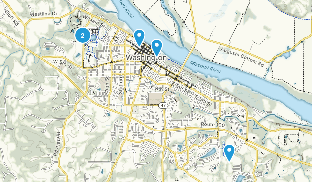 Washington, Missouri Walking Map