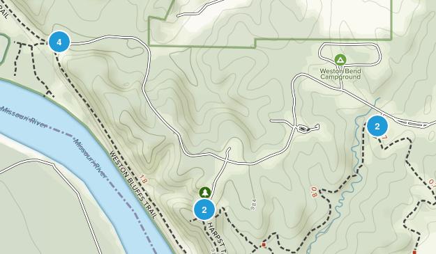 Weston, Missouri Walking Map