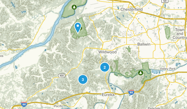 Wildwood, Missouri Forest Map