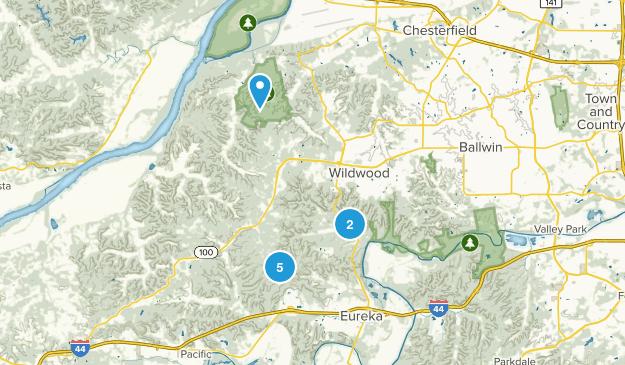 Wildwood, Missouri Hiking Map