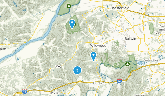 Wildwood, Missouri Nature Trips Map