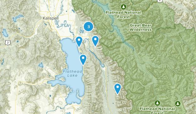 Bigfork, Montana Bird Watching Map
