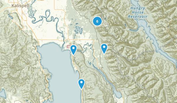 Bigfork, Montana Hiking Map