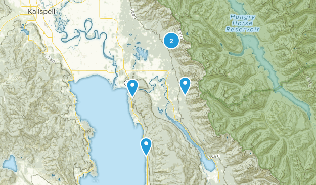 Bigfork, Montana Nature Trips Map