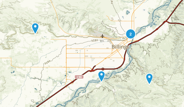 Billings, Montana Walking Map