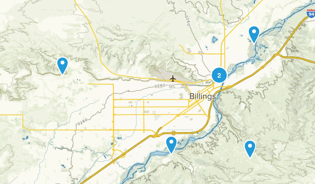 Billings, Montana Walking Map
