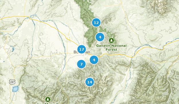Bozeman, Montana Hiking Map