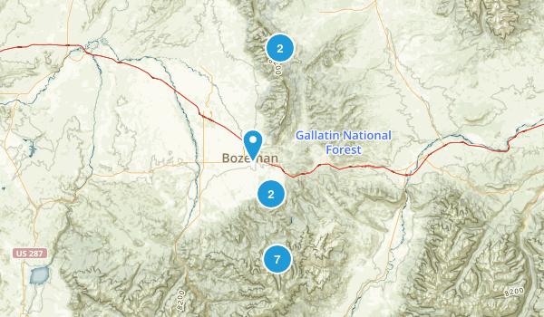 Bozeman, Montana Lake Map
