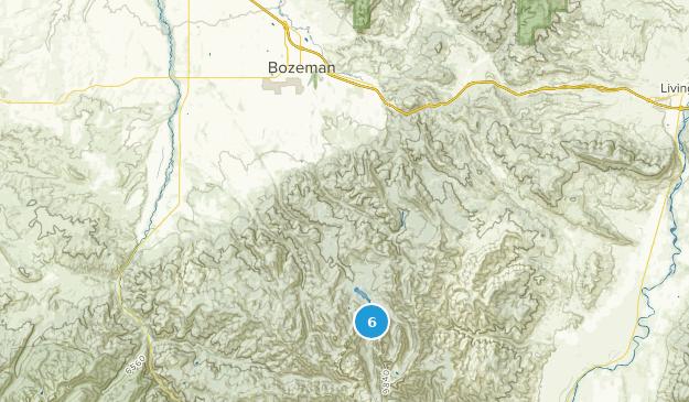 Bozeman, Montana Waterfall Map