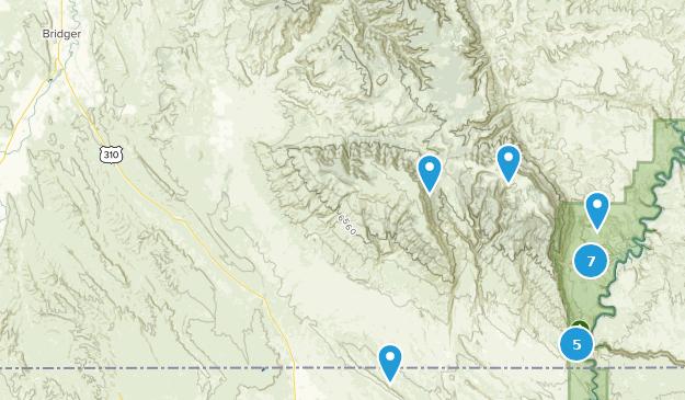 Bridger, Montana Hiking Map