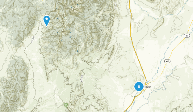 Dillon, Montana Hiking Map