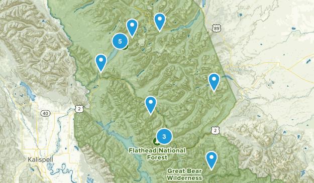 Essex, Montana Lake Map
