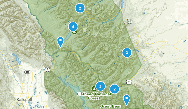 Essex, Montana Nature Trips Map