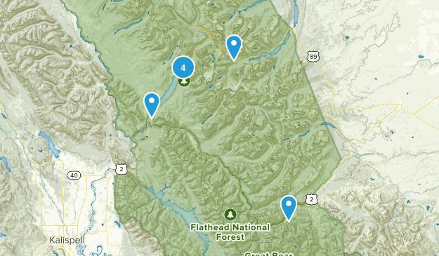 Essex, Montana River Map