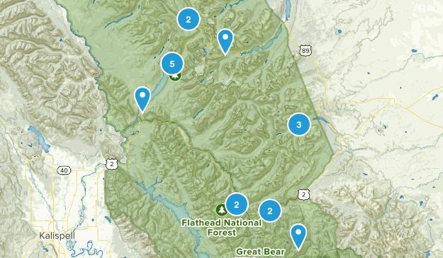 Essex, Montana Walking Map