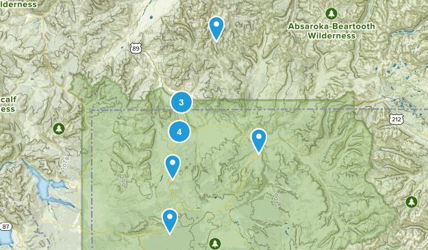 Gardiner, Montana Hiking Map