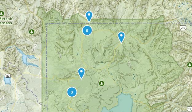 Gardiner, Montana Nature Trips Map