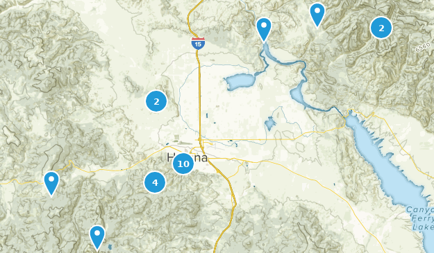 Helena, Montana Hiking Map