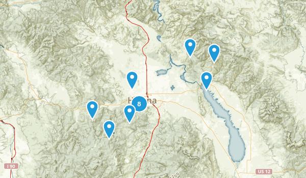 Helena, Montana Mountain Biking Map