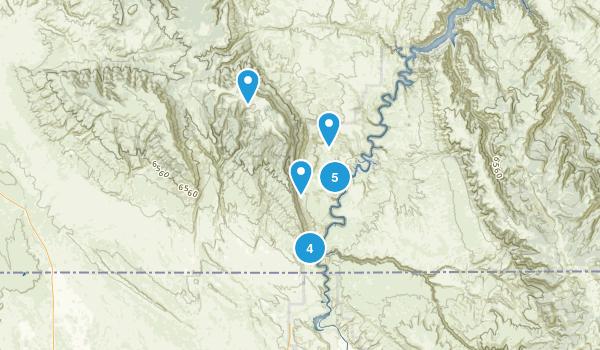 Hillsboro, Montana Hiking Map