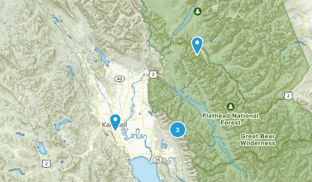 Kalispell, Montana Walking Map